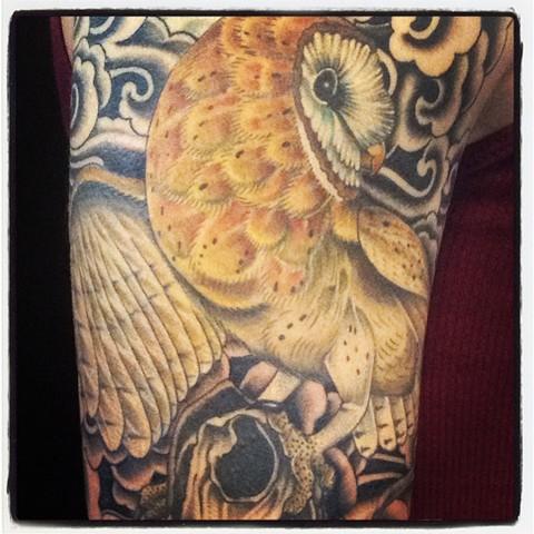 owl sleeve 2 tattoo