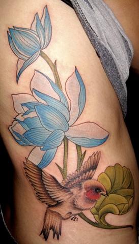 lotus/bird