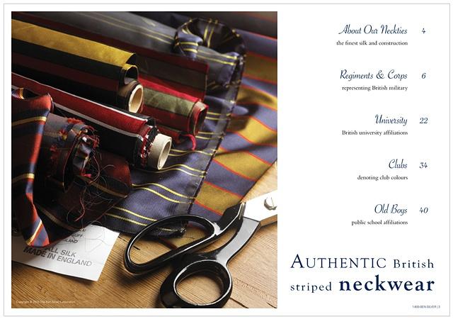 2010 Ben Silver Regimental Tie collection catalog