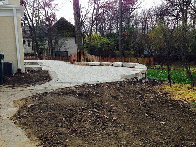 New stone patio