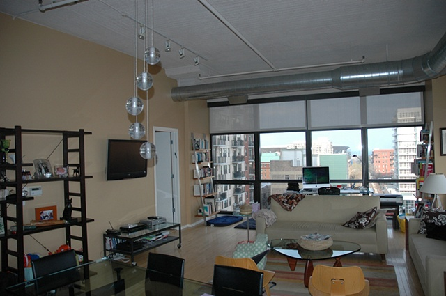 living - looking east out of Unit 816