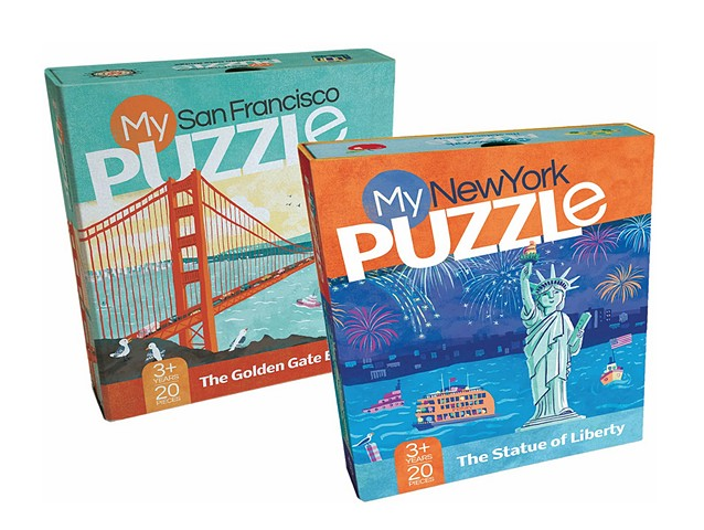 My New York Puzzle My San Francisco Puzzle duopress