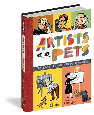 biography, artist biography, Picasso, Kahlo, Matisse, Magritte, Pollock, dogs, cats, Violet Lemay, art education