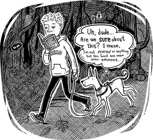 kid lit, graphic novel, middle school, dog, illustration, Violet Lemay