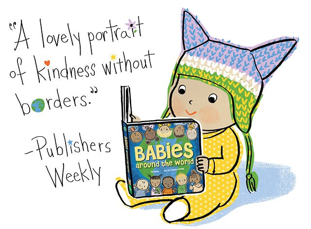 Babies Around the World, Publishers Weekly, review, racial harmony, global village, babies, baby book, board book, Violet Lemay
