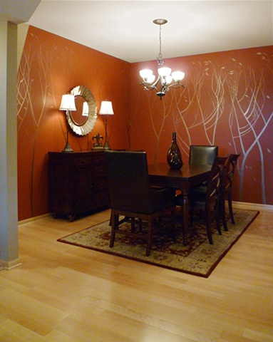 Copper Red dining room