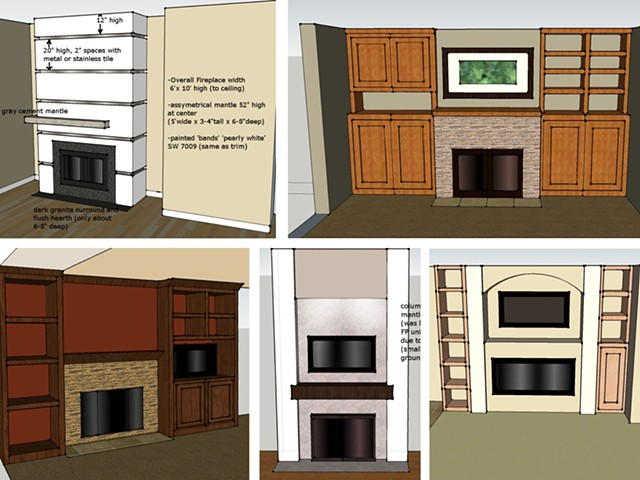 Fireplace Elevations: samples