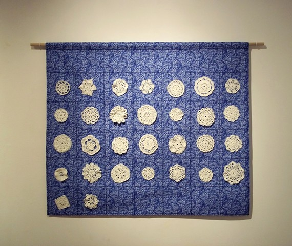 "Part of ""Doily Diary,"" as exhibited at Clay College, Millville, NJ"