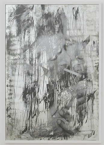 Untitled (Lawrence and Danny scratched mirror), 2013