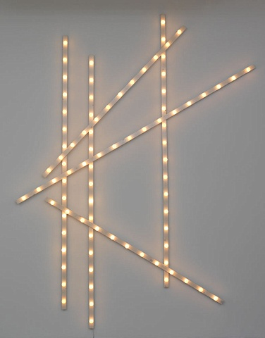 Installation light bars by Marc Swanson The Tenth of Always show Richard Gray Gallery Chicago