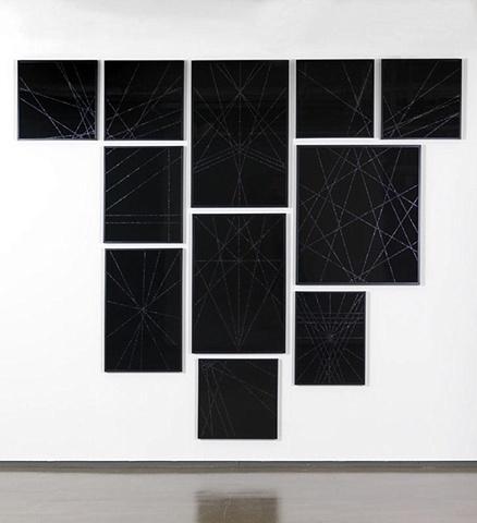 Untitled (Black Geometric Group II), 2009