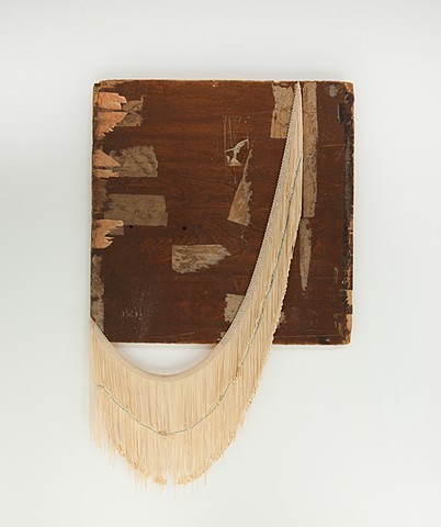 Untitled, (brown panel with fringe), 2013