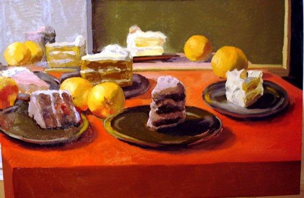 le torte con una orange