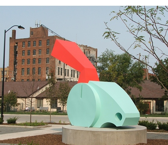 thunderer 2004 painted steel 150X63X208 inches