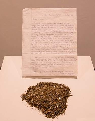 Silvia Buchanan C. Higgens, letter and minerals