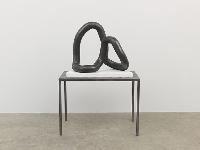 Movement Studies No. 4 | Cast Hydrocal, graphite powder, sealant on metal base, Overall: 54 x 36 x 22.5 in | Photo Credit: Jeffrey Sturges