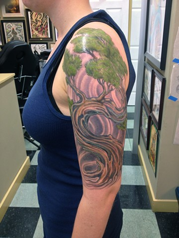 Freehanded Tree Tattoo