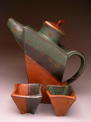 Slab Teapot Set