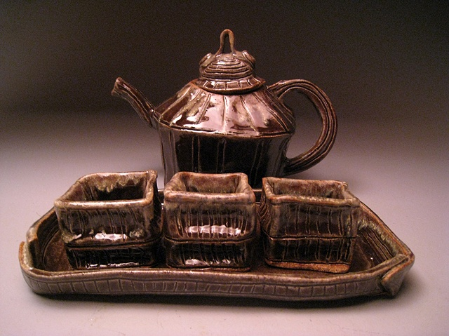Slab Tea Pot Set #4