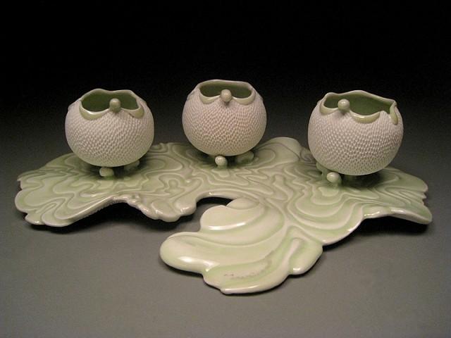 Water Ripple tea bowls Set II