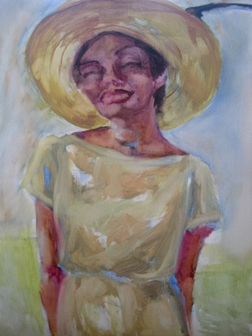black woman, hat, evangeline