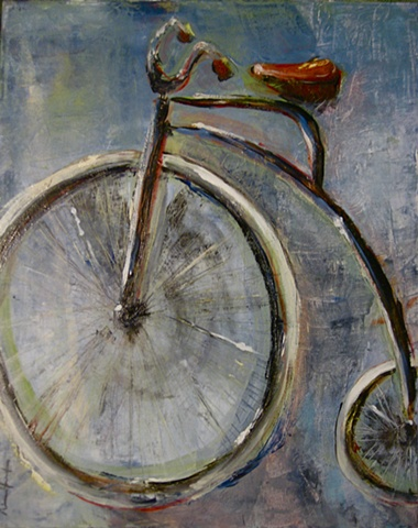high-wheel, bike, antique
