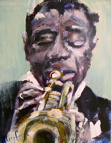 satchmo, louis armstrong, trumpet