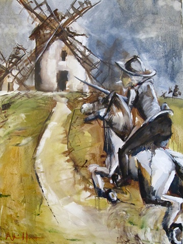 Don Quixote, windmill, myth