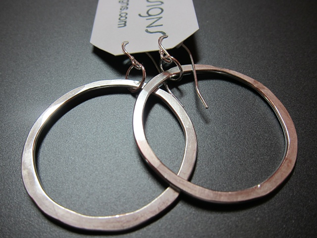 sterling, sterling silver, argentium, elements, circle, okay, hoop