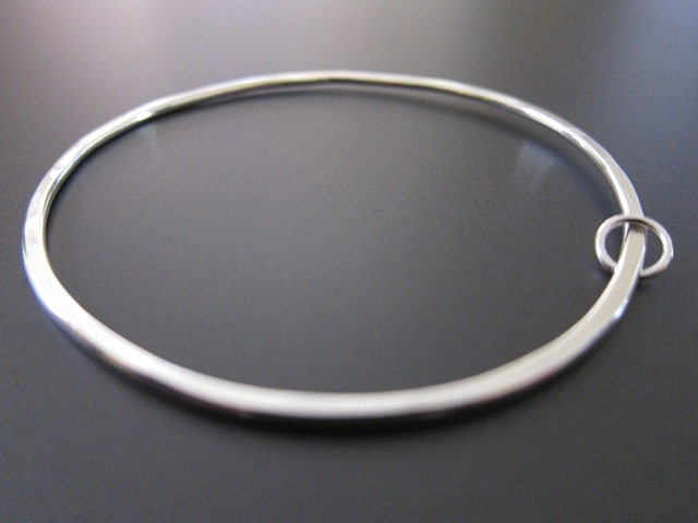 sterling, sterling silver, argentium, elements, circle, okay, hoop, bangle