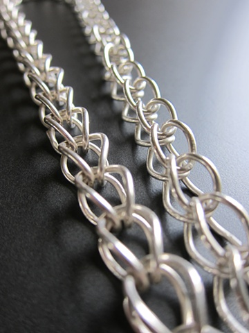 sterling, sterling silver, argentium, elements, foxtail, fox chain