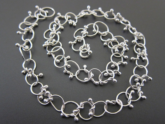 sterling, sterling silver, argentium, elements, knots, knotty, chain
