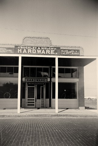 Granger Texas photograph in black and white, Spartus 120 camera, Ilford medium format film