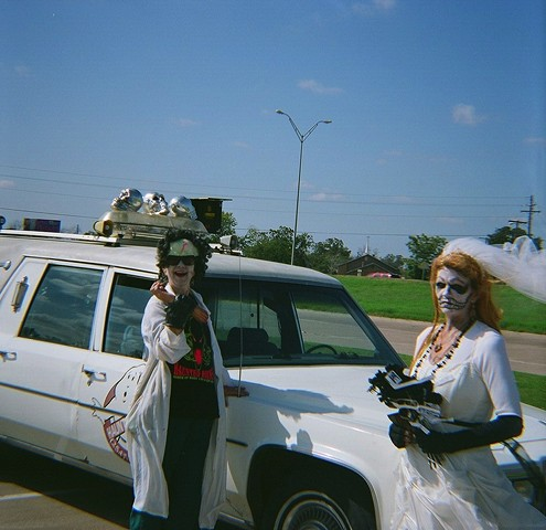 zombie bride taken with a diana medium format camera in waco texas before halloween