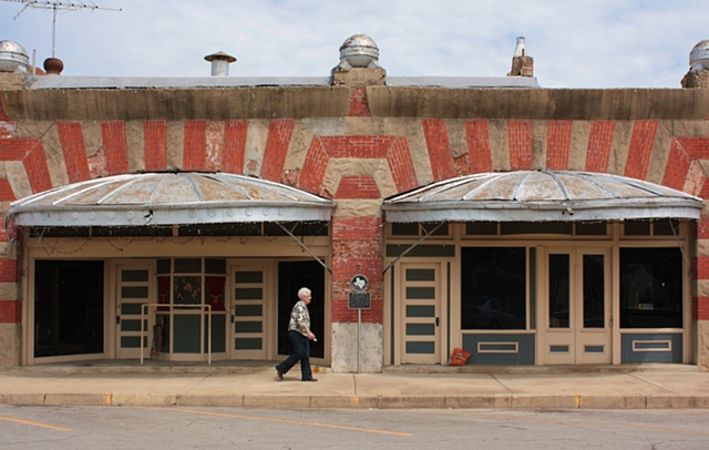 West, TX, historical theatre photograph