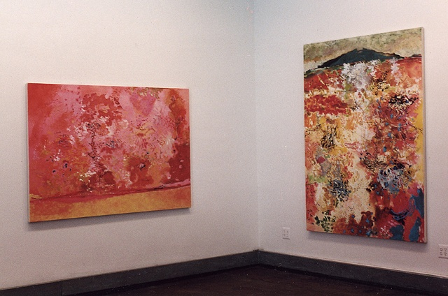 "L to R, ""Homage to Sienna"", ""Inner Visions"""