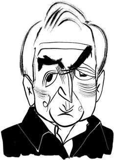 Dominique Strauss-Kahn by Tom Bachtell (The New Yorker, Talk of the Town, PARIS POSTCARDSTRAUSS-KAHNIKOV by Philip Gourevitch)