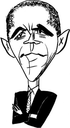 Barack Obama by Tom Bachtell; The New Yorker; Hendrik Hertzberg