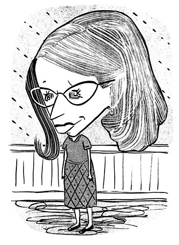 Roz Chast by Tom Bachtell