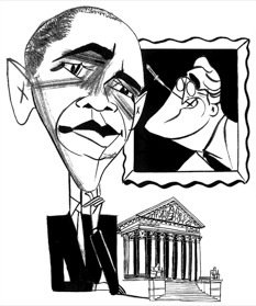 Obama & FDR by Tom Bachtell; The New Yorker; Jeffrey Toobin