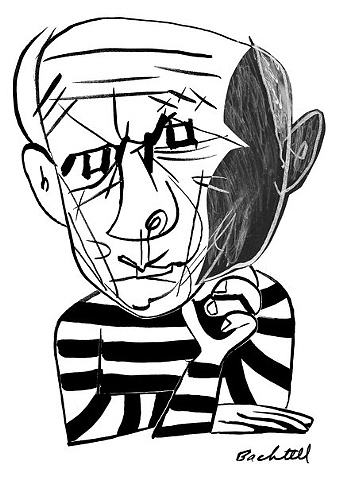 Pablo Picasso Caricature from 'Line by Line,'  James McMullan's NYT online drawing blog