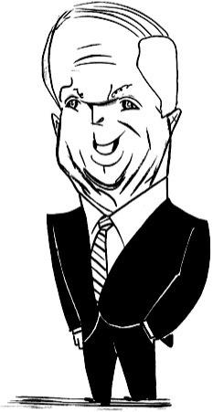 John McCain by Tom Bachtell; The New Yorker