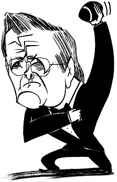 Donald Rumsfeld by Tom Bachtell; The New Yorker; Ben McGrath