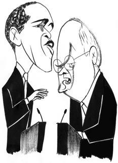 Barack Obama and Dick Cheney