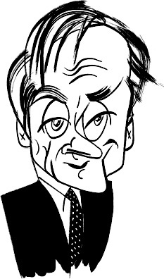 Harold Evans by Tom Bachtell; The New Yorker; Nicholas Lemann