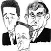 THREE-WAY RACE --- David Cameron, Nick Clegg &amp; Gordon Brown