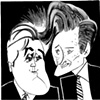 Jay Leno &amp; Conan O&#39;Brien by Tom Bachtell