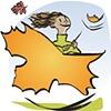 Girl w/Leaf Icon