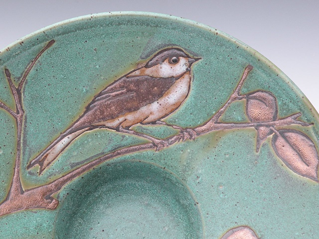 Closeup of April Bird Plate