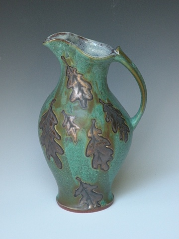 Green and Gold Pitcher